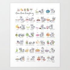 Edna Eats Everything Art Print