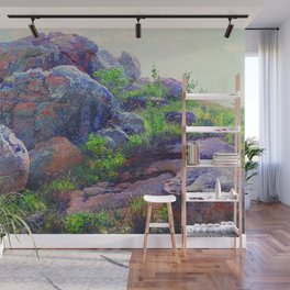 Rocks at Lukenya Hills, Africa by William R. Leigh Wall Mural