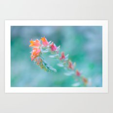 Tiny Gentle Blossoms In Soft Pastel Colours Art Print
