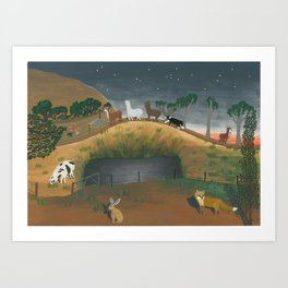 Hillview Lane Art Print