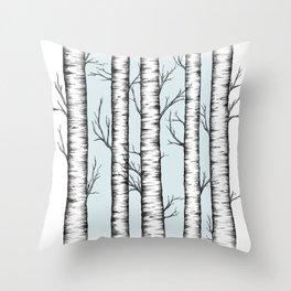 Wonderland - Blue Throw Pillow