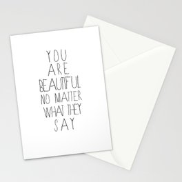 You Are Beautiful Stationery Cards