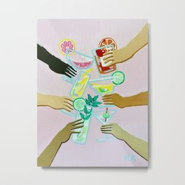 Better With Friends Metal Print