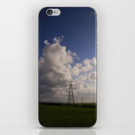 Electricity pylons fading into the distance iPhone Skin