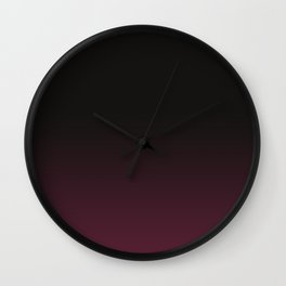 Faded Background, Burgundy, Color Change Wall Clock