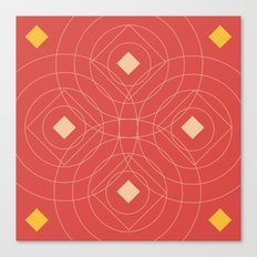SOUND! Circle Square Pattern (Girl) Canvas Print