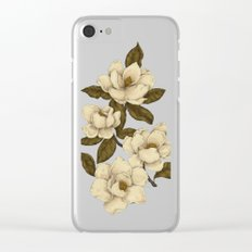 Magnolias Clear iPhone Case