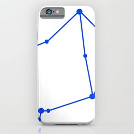 Libra (Blue & White) iPhone Case