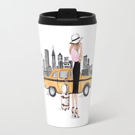 Girl in NYC Travel Mug