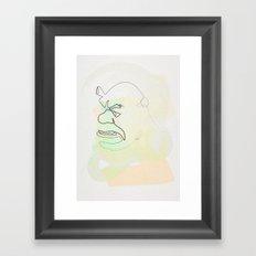 One Line Shrek Framed Art Print