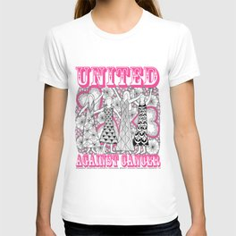 United Against Cancer - Breast Cancer Awareness - Zentangle Women T-shirt