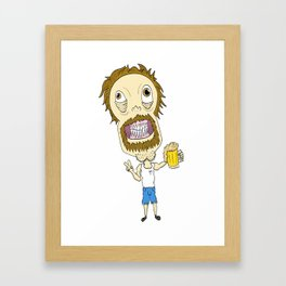 Beer Man Framed Art Print