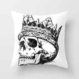 Metal Head Shop | The King Throw Pillow