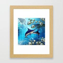Underwater world Framed Art Print