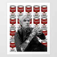 Tattooed Warhol Art Print