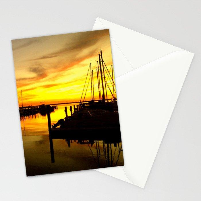 sailor sunset Stationery Cards
