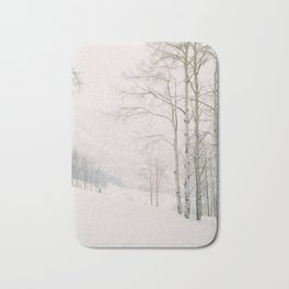 Aspen in snow - Beaver Creek, Colorado Bath Mat