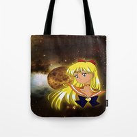 sailor venus Tote Bags featuring Sailor Venus by Maren Lex