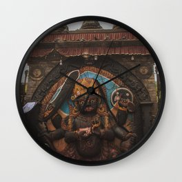 Temples and Architecture of Kathmandu City, Nepal 001 Wall Clock