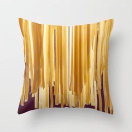 Sundried stripes Throw Pillow