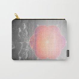 The Sun Is But A Morning Star (Mono Geometric Sunrise) Carry-All Pouch