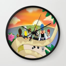 Together at sunset Wall Clock