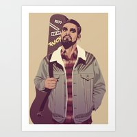 90s Art Prints featuring 80/90s - K. Dr by Mike Wrobel