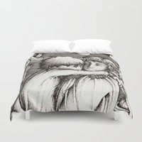 thranduil Duvet Covers featuring Family portrait by Anca Chelaru