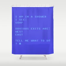 The Cleansing Adventure Shower Curtain