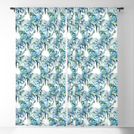 Watercolor Himalayan Blue Poppies Blackout Curtain