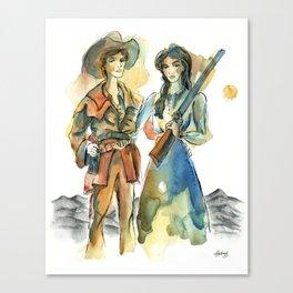 Pioneer Wives Canvas Print