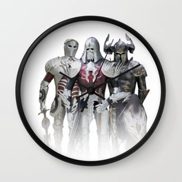 Knights of Dark Wall Clock