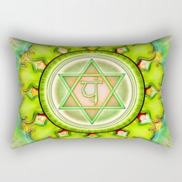 Anahata Chakra - Heart Chakra - Series III Rectangular Pillow
