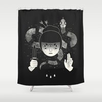 occult Shower Curtains featuring Sacrifice by LordofMasks