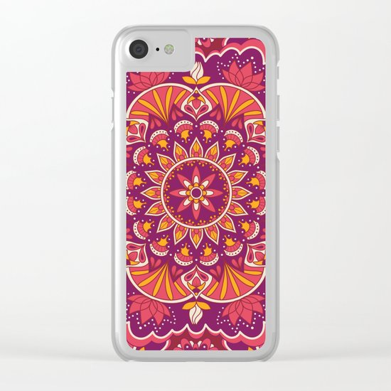 Mandala 43 Clear iPhone Case