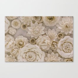 Paper Bouquet Canvas Print