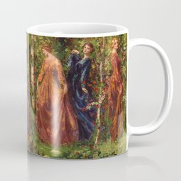 Rose Garden Tapestry Gather Ye Rosebuds While Ye May by Thomas Edwin Mostyn Coffee Mug