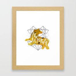 Hufflepuff Black Splatter Framed Art Print