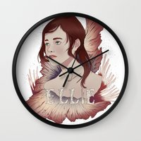 ellie goulding Wall Clocks featuring Ellie by Natalie Lucht