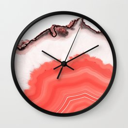 Living Coral Agate Wall Clock