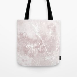 Vintage elegant brown white rustic marble Tote Bag
