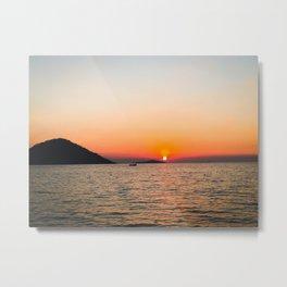 Orange you glad for Sunsets Metal Print