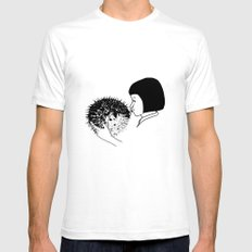 fugu White SMALL Mens Fitted Tee