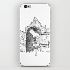 Canada Goose on Maple Leaf iPhone & iPod Skin