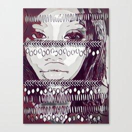 Black, Red & White Tribal Canvas Print