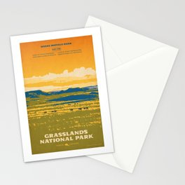 Grasslands National Park Poster Stationery Cards