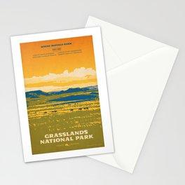 Grasslands National Park Poster Stationery Cards
