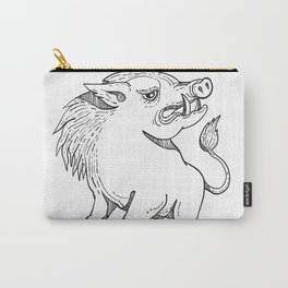 Razorback Doodle Art Black and White Carry-All Pouch