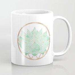 Green Succulent Watercolor Coffee Mug