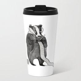 Badger knitting Metal Travel Mug